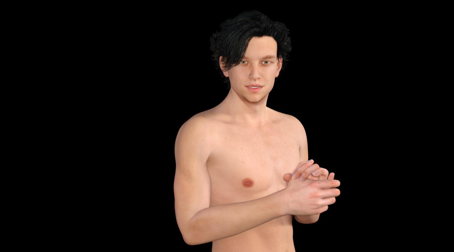 【Daz Studio】男性キャラを制作してみる。