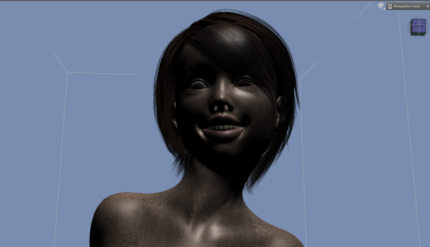 【Daz Studio】汗だくな女性を作ってみた。