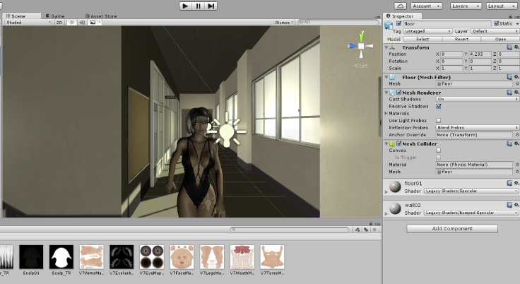 【Daz Studio/Unity】Unityのアセットを漫画背景に活用してみる。