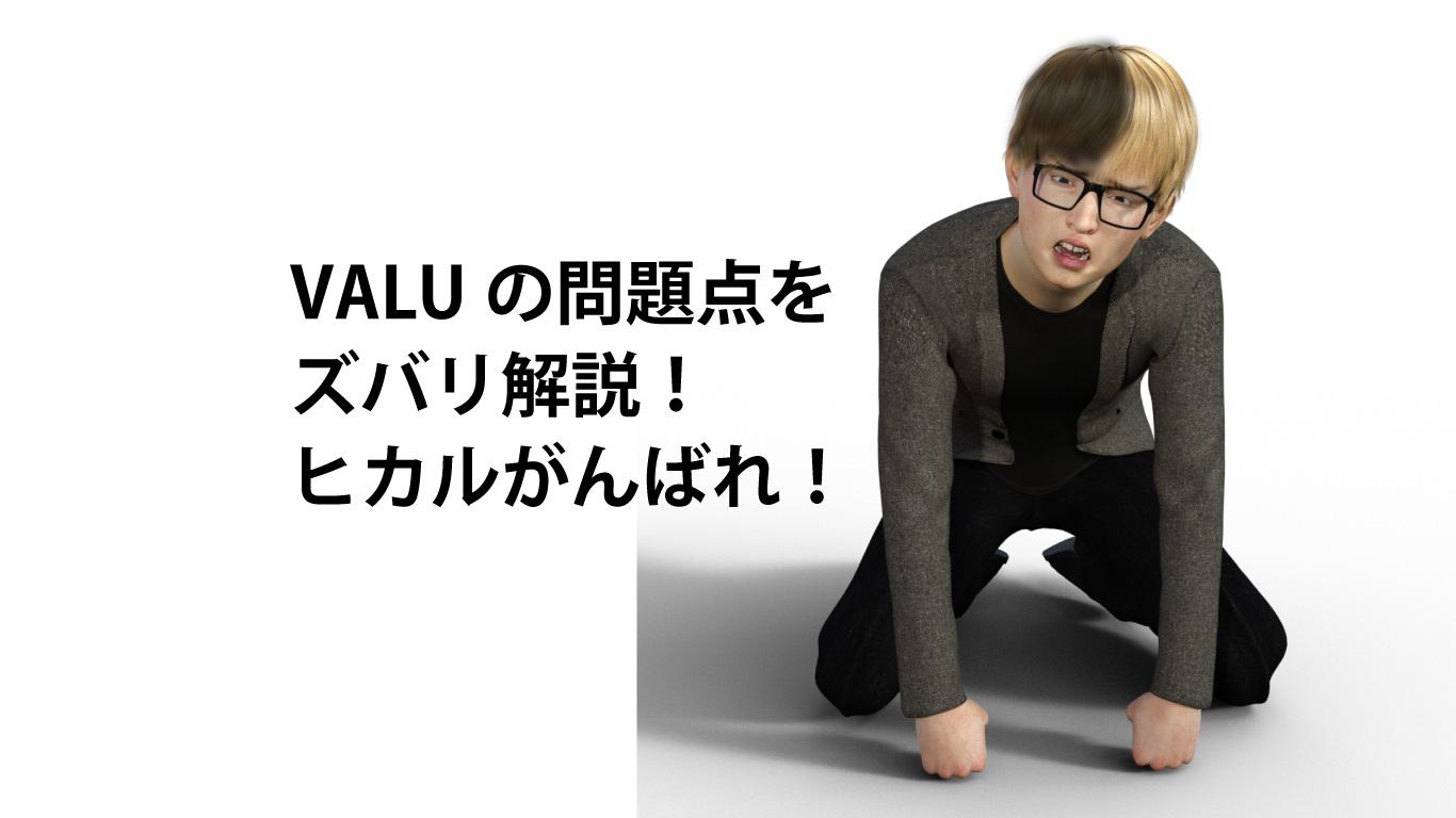 VALUの問題点をズバリ解説:ヒカルがんばれ!